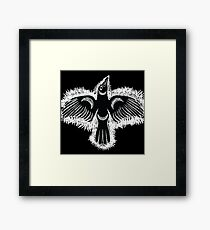 Coast Salish Crow Framed Print