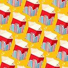 Milk Pattern - Yellow by Kelly  Gilleran