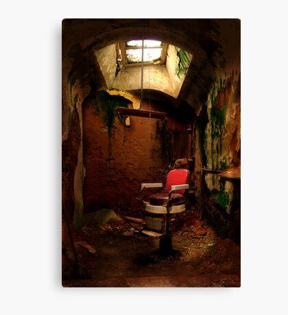 Prison barber shop Canvas Print