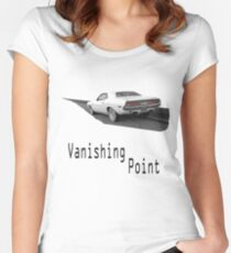 Vanishing Point - Road Women's Fitted Scoop T-Shirt