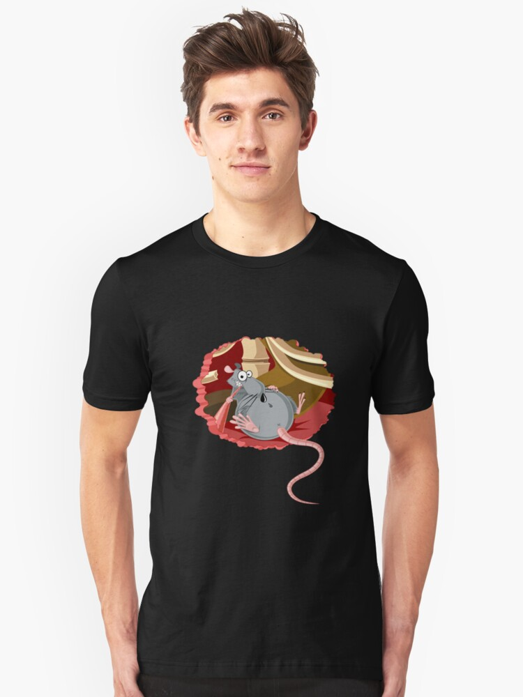 The hungry rib cage rat Unisex T-Shirt Front