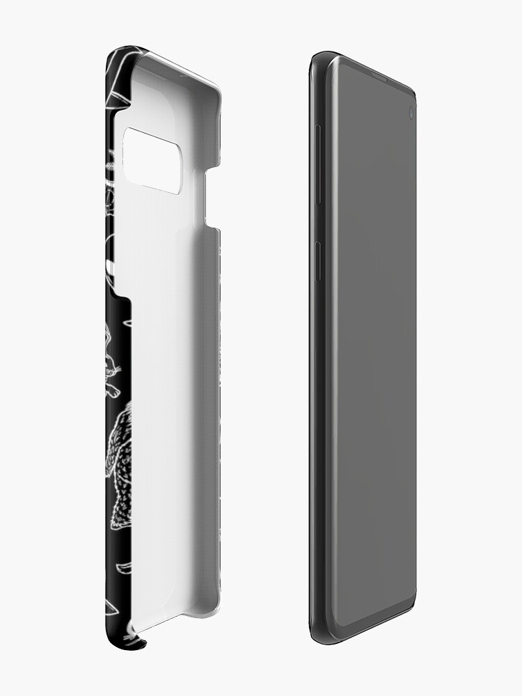 Alternate view of Cryptid Pattern (Black Background) Case & Skin for Samsung Galaxy