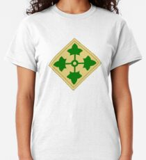 U.S. Army 4th Infantry Division Shoulder sleeve insignia (1918–2015) Classic T-Shirt