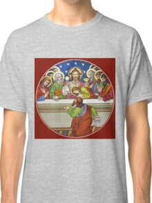 Last Supper Stained Glass Classic T-Shirt