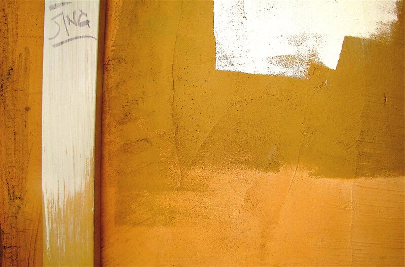 yellow,  beige, paint by Ted Watson