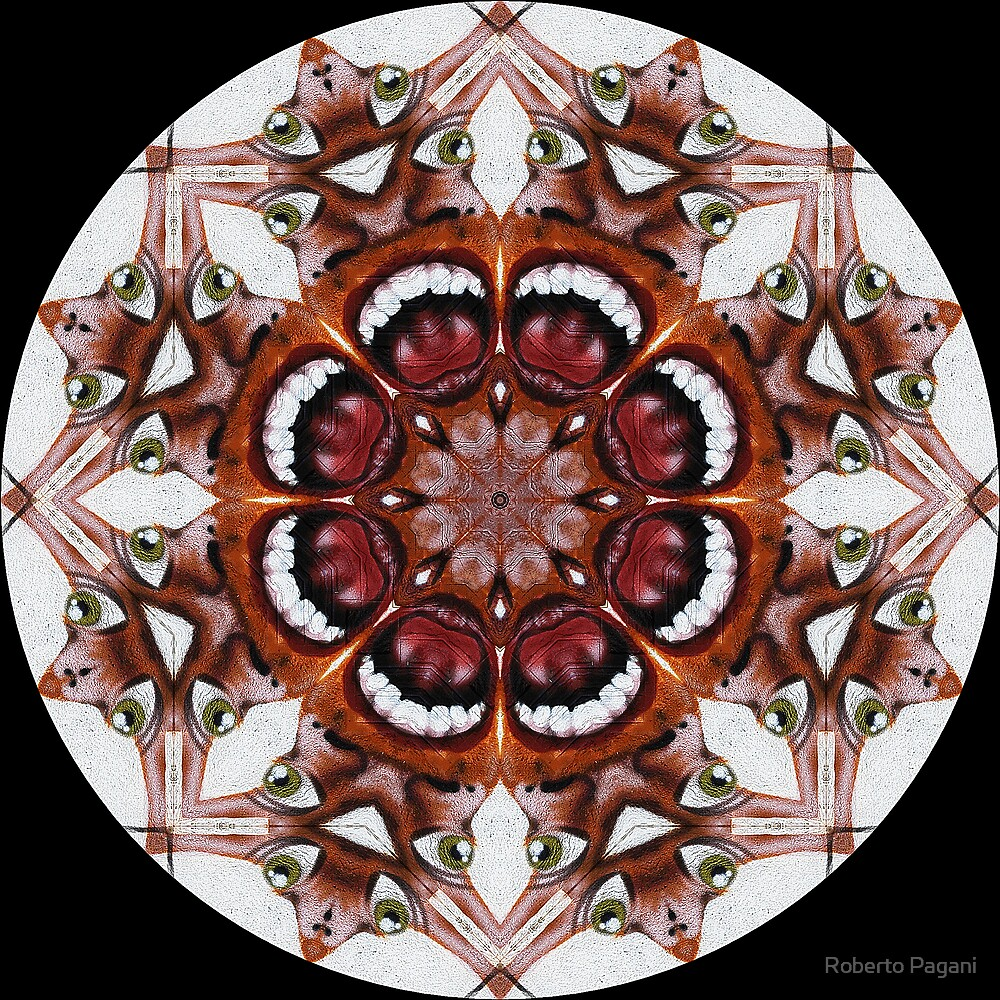 Aliens kaleidoscope by Roberto Pagani