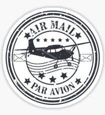 Vector grunge air mail  Sticker