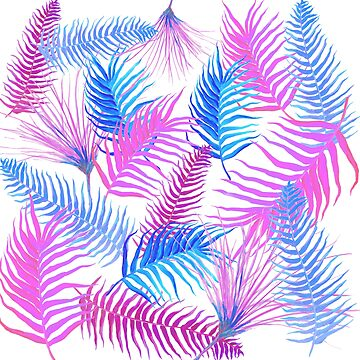 Exotic Tropical ferns by MatsonArtDesign