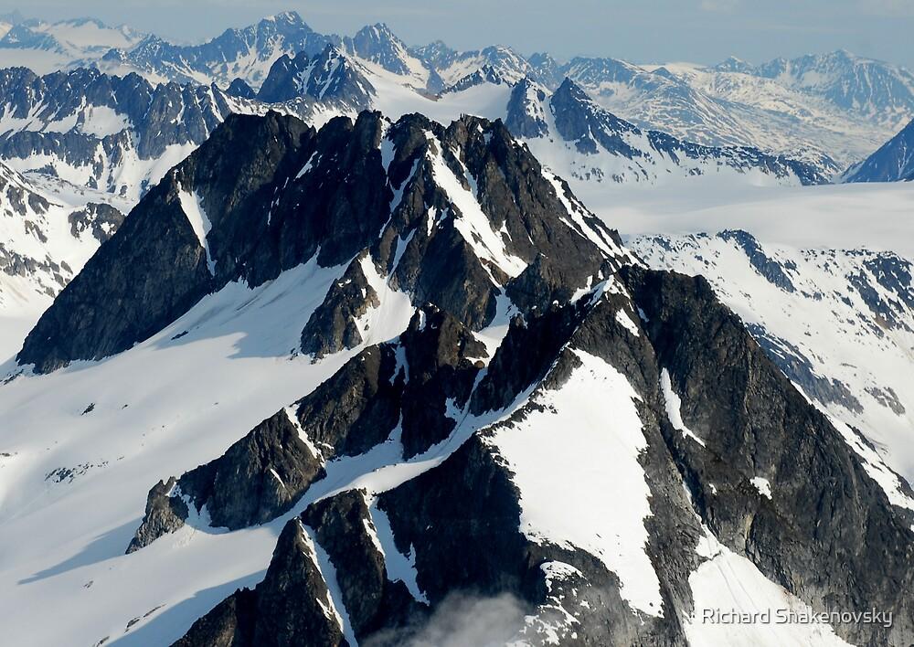 Alaskan mountain ranges by Richard Shakenovsky