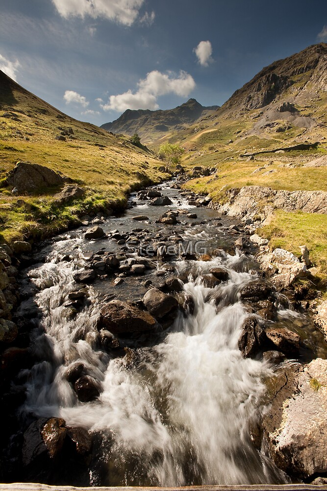 Grisedale Beck With Dollywaggon Pike by SteveMG