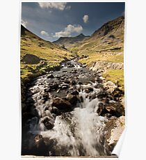 Grisedale Beck With Dollywaggon Pike Poster