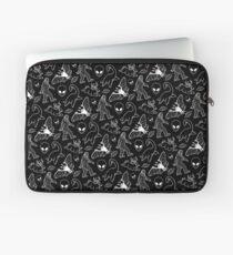 Cryptid Pattern (Black Background) Laptop Sleeve