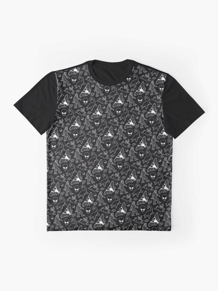 Alternative Ansicht von Cryptid-Muster (schwarzer Hintergrund) Grafik T-Shirt
