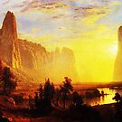 Bierstadt, Sunset in the Yosemite Valley, 1868  by edsimoneit
