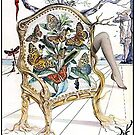 BRYANS NYLONS : Vintage 1940 Dali Abstract Advertising Print by posterbobs