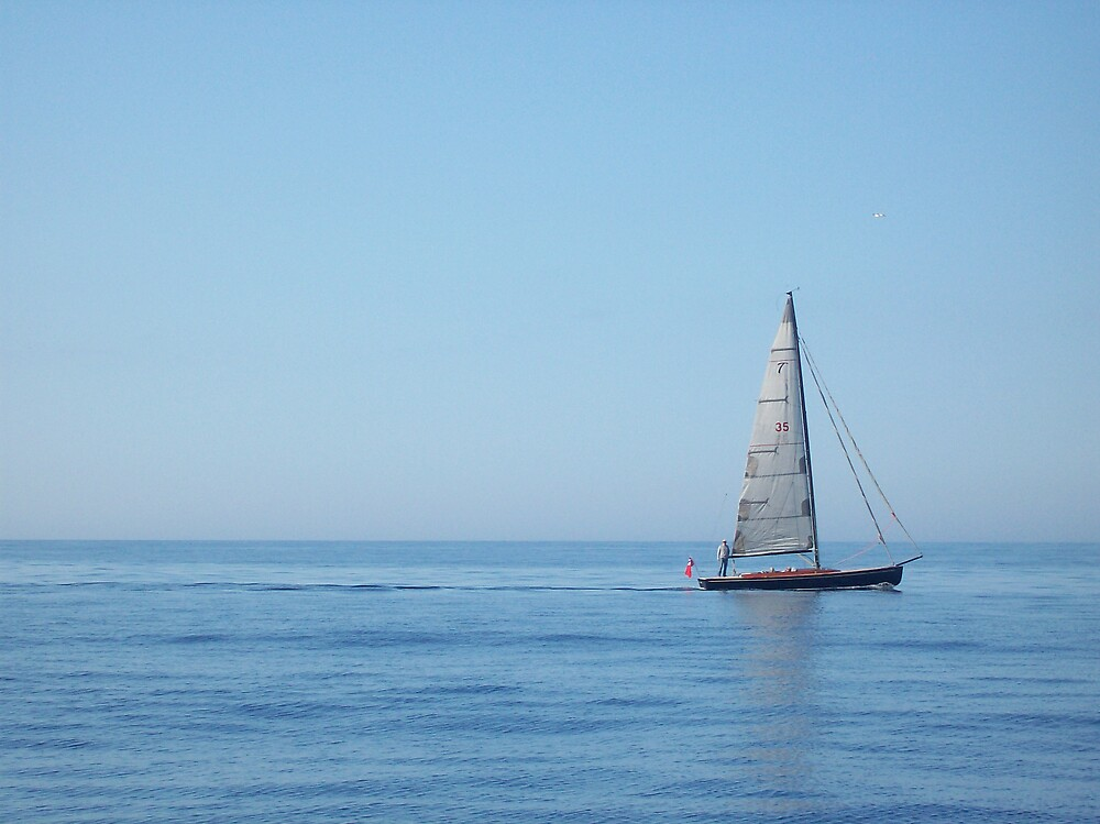 Sailboat, Mediterranean by cassandragrj