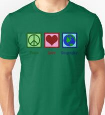 Peace Love Geography Unisex T-Shirt