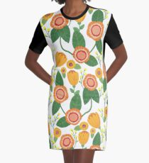 Autumnal Graphic T-Shirt Dress