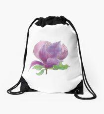 Magnolia flower Drawstring Bag