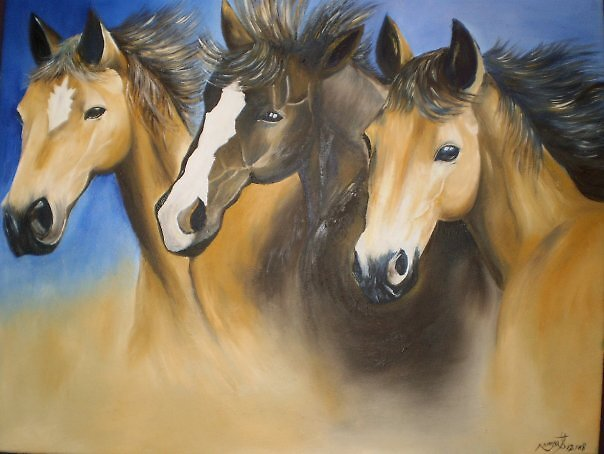 horses by Nnaseri