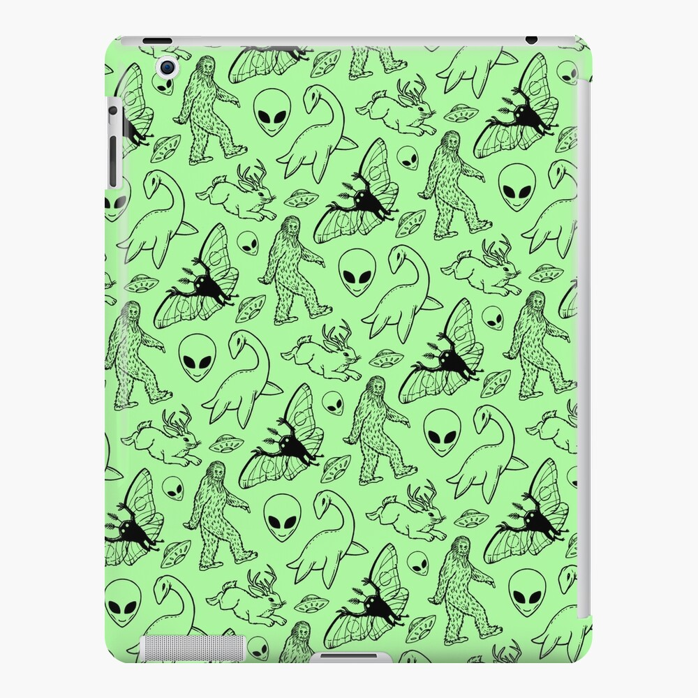 Cryptid Pattern (Green Background) iPad Case & Skin