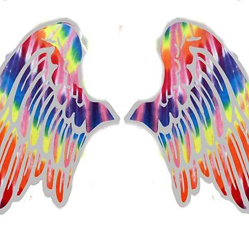 TIE DYE ANGEL WINGS - GROOVY WINGS by Tim-Forder