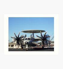 Communications Aircraft, USS Kitty Hawk Aircraft Carrier Art Print