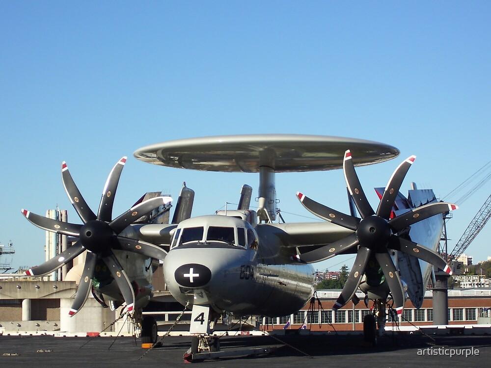 Communications Aircraft, USS Kitty Hawk Aircraft Carrier by artisticpurple