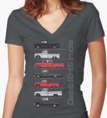 60-64 chevy trucks Women's Fitted V-Neck T-Shirt