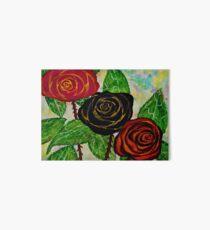 Rose con foglie Art Board