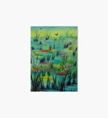 Reeds in Pond Art Board