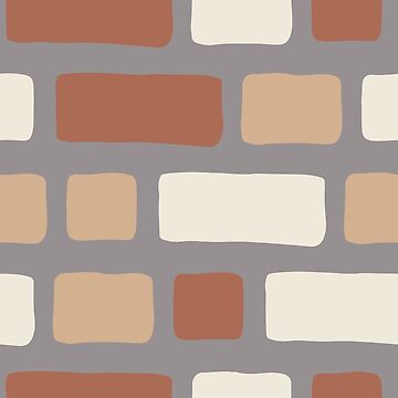 Rustic Bricks Pattern-Slate Violet Coloured Background by broadmeadow