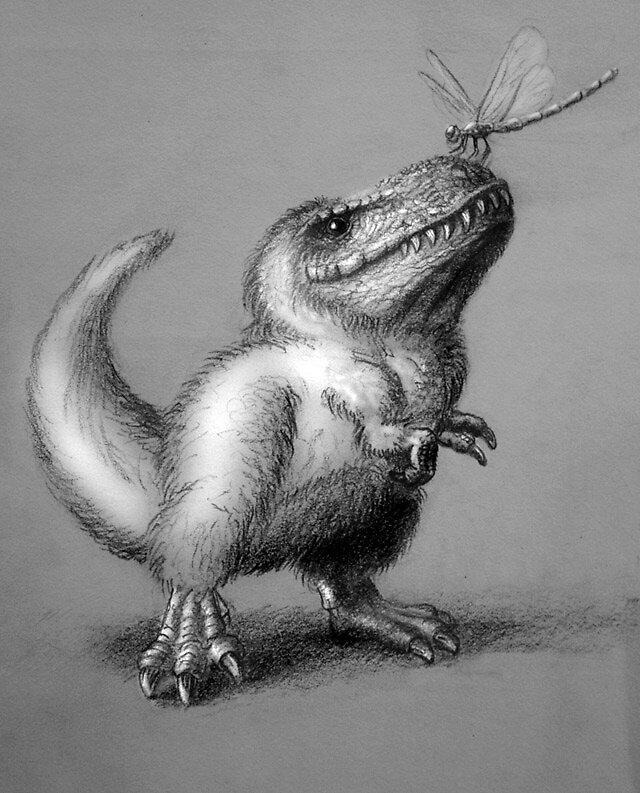 Baby tyrannosaur by Dana Sibera