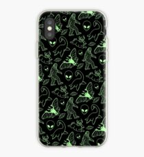 Cryptid Pattern (Green Lines) iPhone Case