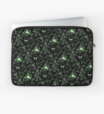 Cryptid Pattern (Green Lines) Laptop Sleeve