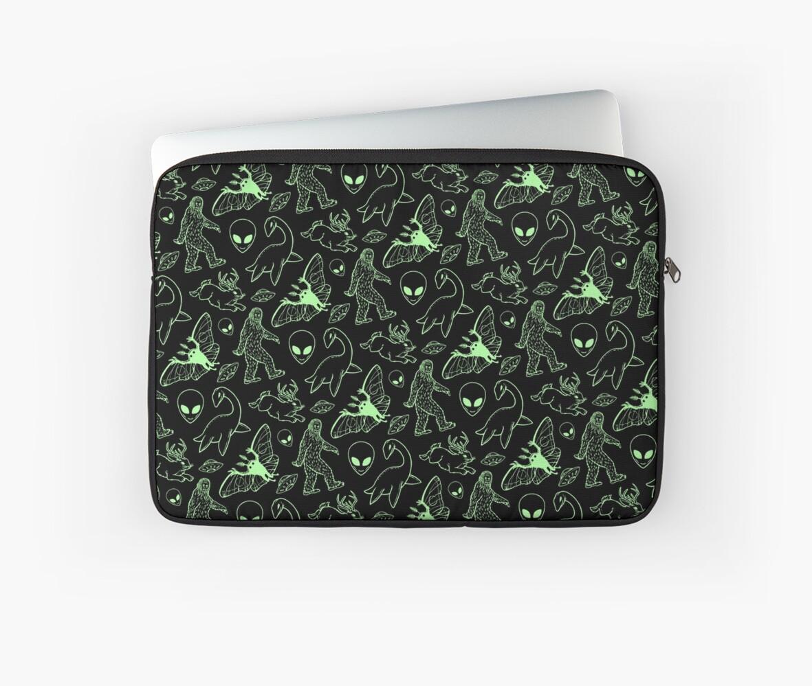 Cryptid Pattern (Green Lines) by Diane LeonardArt
