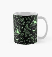 Cryptid Pattern (Green Lines) Mug