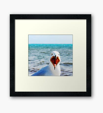 Shout about it!! Framed Print