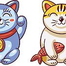 Lucky Cats by BekkaCampbell
