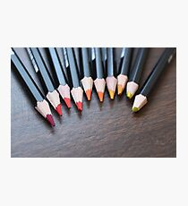 Ombre Colored Pencils Photographic Print