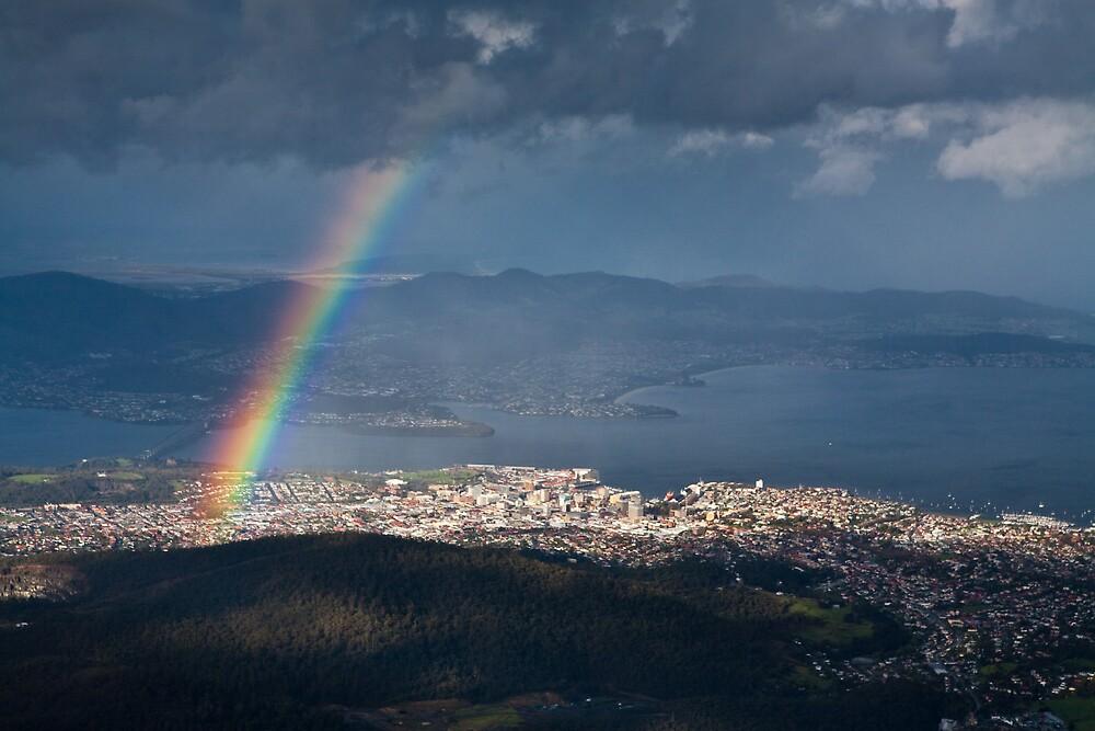 Rainbow over Hobart by Chris Putnam