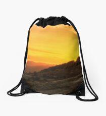 Fiery Sunset Drawstring Bag