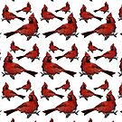 Northern cardinal by Maria Nazarian