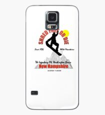 Snowboard T shirts and Apparel ... SHRED FREE or DIE  Case/Skin for Samsung Galaxy