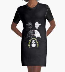 Panda Fusion Graphic T-Shirt Dress