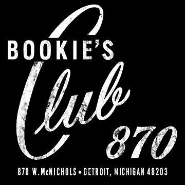 BOOKIE'S Club 870, Detroit (Distressed, White) by PissAndVinegar
