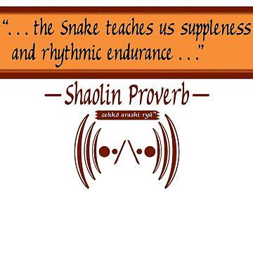 "Zekko Arashi Ryu ~ Shaolin ~ ""The Snake teaches us..."" by zekkoarashiryu"