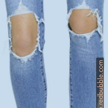 Distressed Denim Jeans by Locan