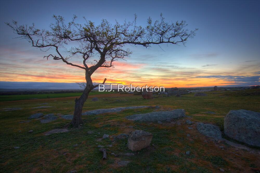 Dog Rocks Sunset by B.J. Robertson