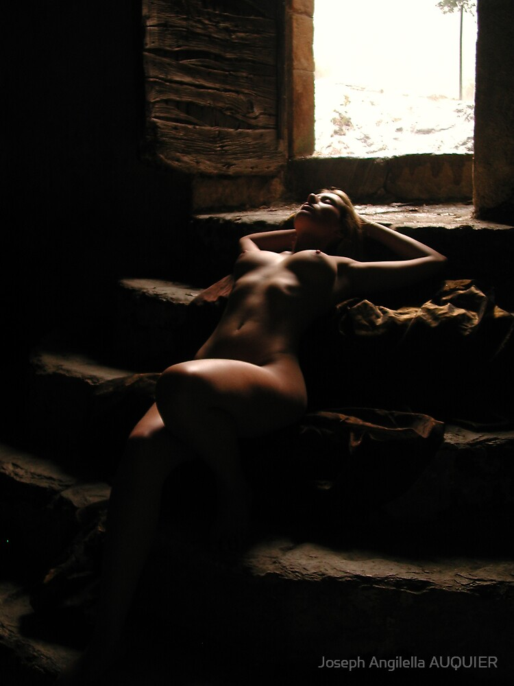 Belle in the stairs by joseph Angilella AUQUIER